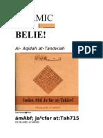 Al- Aqidah at- Tahawiah (Beliefs of Ahla Sunnah Wal Jama)