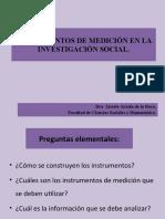 INSTRUMENTOS DE MEDICIÓN EN LA INVESTIGACIÓN SOCIAL