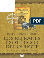 Los refranes esotericos del Quijote
