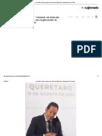 El video, calumnia con intención política, dice el gobernador de Querétaro