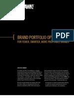 Brand Portfolio Optimization for Fewer, Smarter, More Profitable Brands