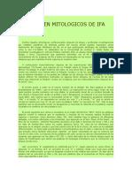 ORIGEN MITOLOGICOS DE IFA