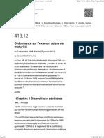RS 413.12 Ordonnance du 7 décembre 1998 sur l'examen suisse de maturité.pdf