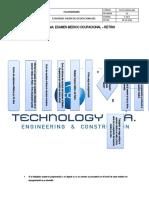 ECJ-FG-SSOMA-001 - Flujograma de carta de no aceptación de examén médico ocupacional (Retiro).