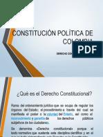 Presentación Constitución Política de Colombia- derecho constitucional