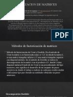 FACTORIZACION DE MATRICES