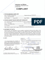 Ethics Complaint Credit Cards