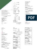 Matemáticas - Formulario (Breve)