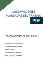 OBSERVACIONES DE SEGURIDAD