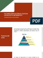 Factores de exito para proyecto TI