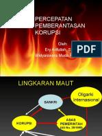 Akar Masalah Korupsi Dan Pemberantasannya