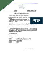 CERTIFICADO DE OPERATIVIDAD LUCES