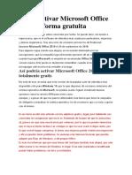 Cómo activar Microsoft Office 2019 de forma gratuita OJALA FUNCIONES ISABELLA.pdf