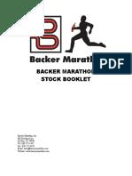 Backer Marathon Stock Booklet