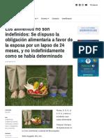 Los alimentos no son indefinidos_ Se dispuso la obligación alimentaria a favor de la esposa por un lapso de 24 meses, y no indefinidamente como se había determinado – AL DÍA _ ARGENTINA