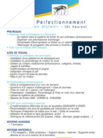 Programme de Formation Spip Perfectionnement