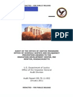 Audit of the Office of Justice Programs Office of Juvenile Justice and Delinquency Prevention Awards  to the Education Development Center, Inc., Newton, Massachusetts