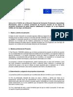 Instrucción 9/2010 que regula el módulo de Proyecto en los Títulos LOE