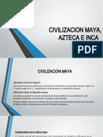 CIVILIZACION MAYA, AZTECA E INCA