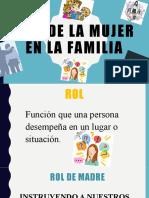 ROLES DE LA MUJER EN LA FAMILIA
