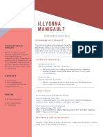 blue and brick red geometric modern resume-6