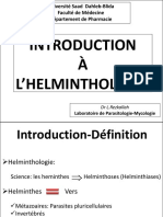 11-Introduction à l'helminthologie
