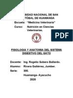 FISIOLOGIA DIGESTIVA DEL GATO word