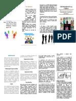 folleto centrado en la tarea