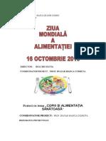 proiect educational alimentatie