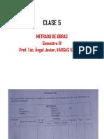 Clase 5 Metrados