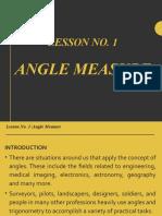 Final Lesson No. 1 (Angle Measure)