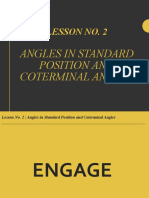 Final Lesson No. 2 (Angles in Standard Position and Coterminal Angles )