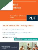 Copy of AIIMS Rishikesh - Nursing Officer Recruitment 2019