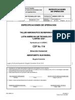 ESPECIFICACIONES DE OPERACION REVISION 4 2019