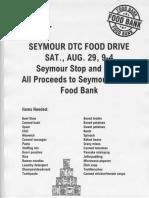 Seymour DTC Food Drive Flyer