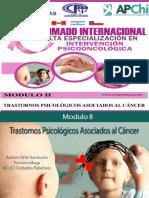 Modulo II Trastornos Psicólogicos Asociados al Cáncer.