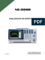 AE-366B manual analisador de espectro