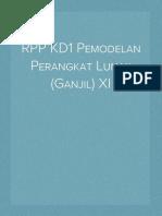 RPP KD1 Pemodelan Perangkat Lunak (Ganjil) XI