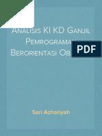 Analisis KI KD Ganjil Pemrograman Berorientasi Objek XI