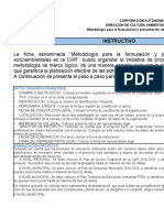 METODOLOGÍA PRESENTACIÒN PROYECTOS DE EDUCACIÒN AMBIENTAL