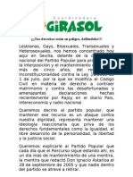 Manifiesto Matrimonio civil