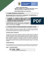 Aviso de Convocatoria Pública. FTIC-CM-018-2020