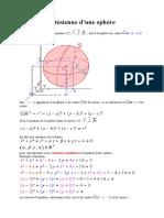équation cartésienne d
