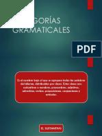 CATEGORÍAS GRAMATICALES - tema (1) -  24 abril 2020