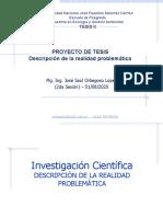Sesión Nro 2 - Investigación Científica - Descripción de La Realidad Problemática
