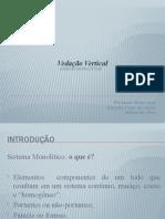 Vedação Vertical_ paredes monolíticas - Seminario 1
