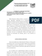 Iniciativa de Reforma Plan de Desarrollo, art. 130 Constitucional