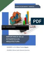 IMPORTANCIA DE LA ESTADISTICA EN ARQUITECTURA MIRIAN GUEVARA GUERRERO