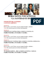 HORA SANTA VOCACIONAL - La Santidad es Hoy