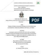 ANALIZAR LA APLICACIÓN DE LA SECCIÓN 13 DE LAS NIIF PYMES (2017)